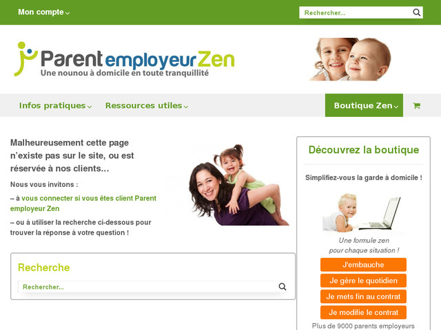 Parent Employeur Zen, boutique zen pour parents employeurs
